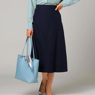 アンタイトル(UNTITLED)の【UNTITLED】 未使用 台形スカート ネイビー(ロングスカート)