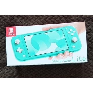 ニンテンドースイッチ(Nintendo Switch)の新品・未開封 Nintendo Switch  Lite ターコイズ(携帯用ゲーム機本体)
