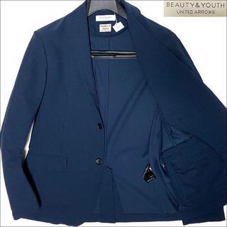 UNITED ARROWS - J4051 美品 ユナイテッドアローズ シアサッカー サマージャケット 紺 M