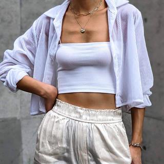 ALEXIA STAM - ACLENT Corduroy sheer shirt