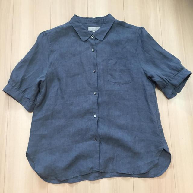 MARGARET HOWELL(マーガレットハウエル)のマーガレットハウエル リネン  半袖シャツ レディースのトップス(シャツ/ブラウス(半袖/袖なし))の商品写真