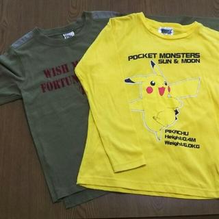 ポケモン(ポケモン)の子供服サイズ130⭐ 2枚セット(Tシャツ/カットソー)