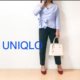 UNIQLO - UNIQLO カシュクールシャツ リボンウエスト 2Way