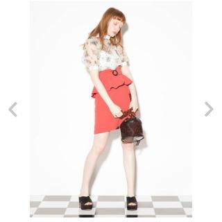 リリーブラウン(Lily Brown)のペプラムスカート(ミニスカート)