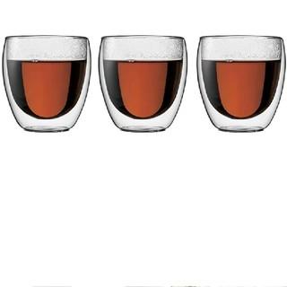 ボダム(bodum)のボダムPAVINAダブルウォールグラス250ml 3個セット 北欧 デンマーク(グラス/カップ)