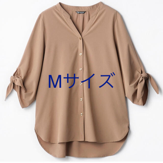 しまむら - しまむら MUMU  袖リボンバンドカラーシャツ