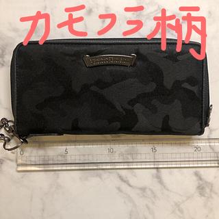 ブラック迷彩柄 長財布(長財布)