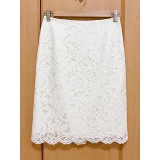 NATURAL BEAUTY BASIC - ☆NATURAL BEAUTY BASIC☆    レースタイトスカート 白