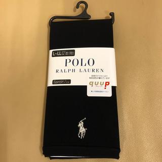 ポロラルフローレン(POLO RALPH LAUREN)の新品 レディース  ポロラルフローレン 7分丈黒レギンス L〜LL寸 日本製(レギンス/スパッツ)