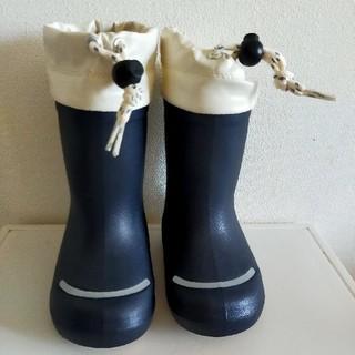 MUJI (無印良品) - 無印良品 レインブーツ 長靴 ネイビー