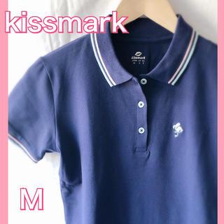 キスマーク(kissmark)のkissmark ネイビー ポロシャツ レディース ゴルフ(ポロシャツ)