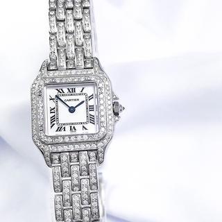 Cartier - 【仕上済】カルティエ パンテール SM フルダイヤ ダイヤ レディース 腕時計