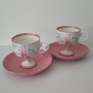 コウランシャ(香蘭社)の香蘭社 カトレア カップ&ソーサー2客セット(グラス/カップ)