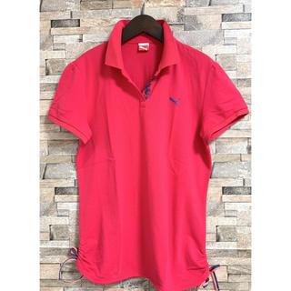 PUMA - プーマ レディース ゴルフウェア ポロシャツ ピンク サイズ O