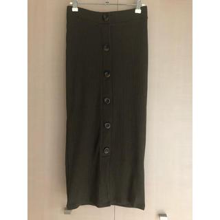 ZARA - ZARA リブタイトスカート ロングスカート