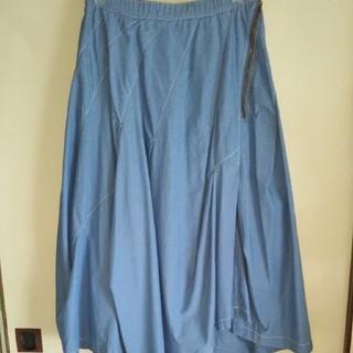 メルシーボークー(mercibeaucoup)の美品メルシーボークー  うすダンスカート(ひざ丈スカート)