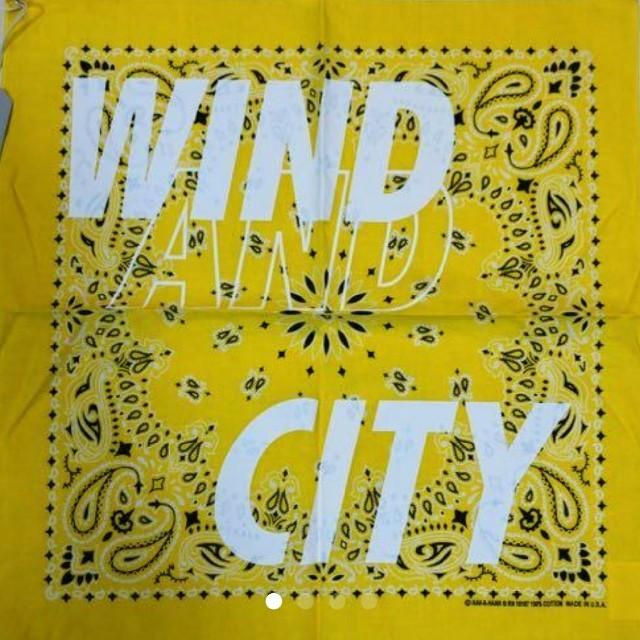 Supreme(シュプリーム)のWIND AND SEA × CITY SHOP バンダナ イエローキムタク メンズのファッション小物(バンダナ/スカーフ)の商品写真