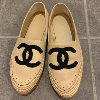 シャネル(CHANEL)のシャネル エスパ ラムスキン(ローファー/革靴)