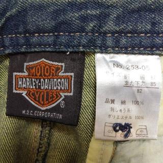 ハーレーダビッドソン(Harley Davidson)の【連休価格限定:美品】HARLEY- DAVIDSON  ワイドデニム (デニム/ジーンズ)