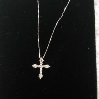 タカシマヤ(髙島屋)のk18   ダイヤモンド 十字架 クロス ネックレス(ネックレス)