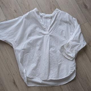 GU - GU リネン混スキッパーシャツ