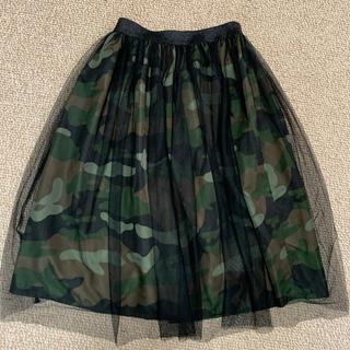 GU - 新品未使用品   GU   キッズ膝丈スカート    140サイズ