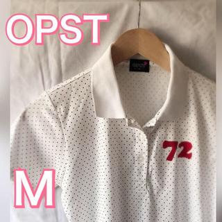 OPSTポロシャツ レディース ゴルフ ホワイト(ポロシャツ)
