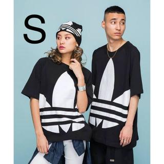 adidas - 新品 S アディダス ビッグトレフォイル ボクシー Tシャツ ブラック 黒