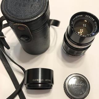オリンパス(OLYMPUS)のオリンパスペンF望遠レンズ100mmジャンク品、フード、リアキャップ付(レンズ(単焦点))