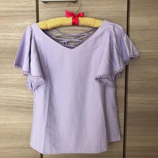 トランテアンソンドゥモード(31 Sons de mode)のトランテアン 編み上げフリル(シャツ/ブラウス(半袖/袖なし))