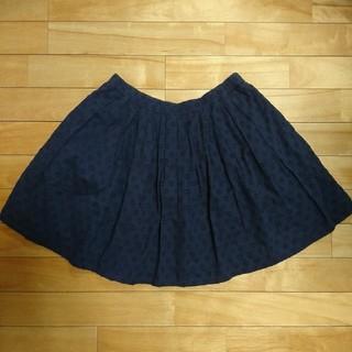 ユニクロ(UNIQLO)の紺色スカート  145~155㎝  キッズsize XL(スカート)
