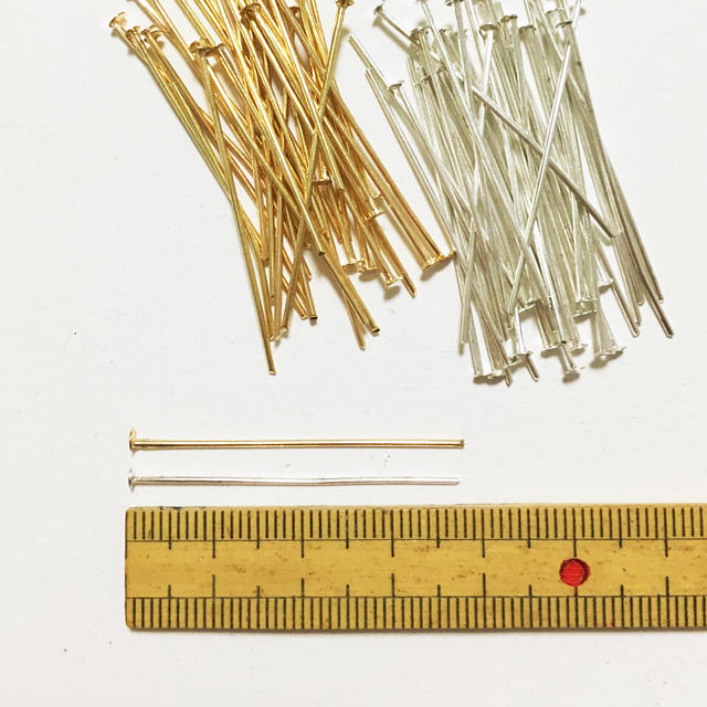 100個♡Tピン 38mm 2色セット ハンドメイドの素材/材料(その他)の商品写真