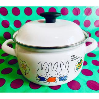 フジホーロー(富士ホーロー)のミッフィー キッチンウェアシリーズ 両手鍋(鍋/フライパン)