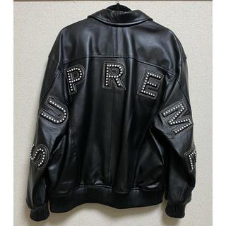 Supreme - supreme studded arclogo leather jacket
