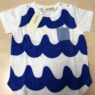 センスオブワンダー(sense of wonder)の新品⭐️波Tシャツ 100(Tシャツ/カットソー)