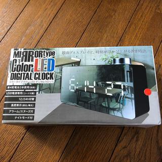 ミラータイプカラーLEDデジタルロック(置時計)