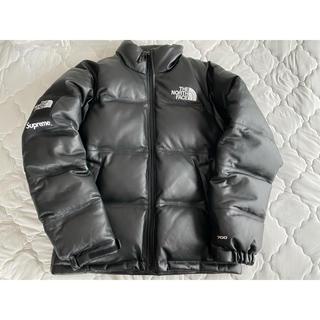Supreme - 正規品 S Supreme North Face Leather Nuptse