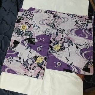 浴衣 紫 レトロ