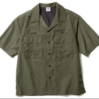 GU - Lサイズ ジーユー ソフ オープンカラーシャツ GU SOPH オリーブ