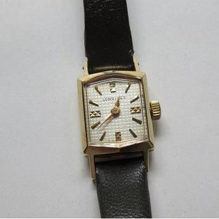 ロンジン(LONGINES)の【値下げ!】アンティークLONGINES ロンジン 手巻き腕時計 14金無垢(腕時計)