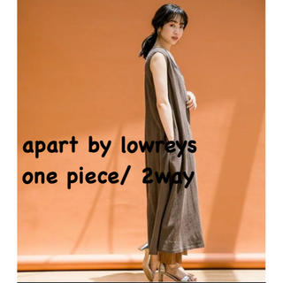 アパートバイローリーズ(apart by lowrys)の【2WAY】apart by LOWRYS マキシボタンノースリーブワンピース(ロングワンピース/マキシワンピース)