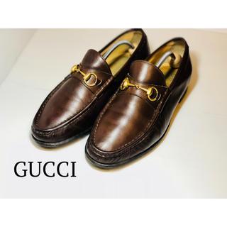 Gucci - [美品]GUCCI ビットローファー ブラウン