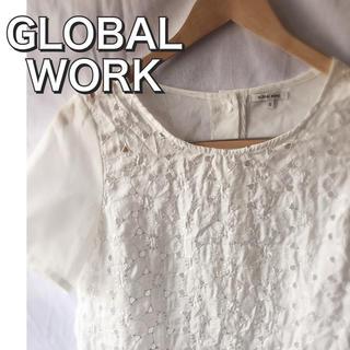 グローバルワーク(GLOBAL WORK)のGLOBALWORKホワイトレーストップス ブラウス半袖(シャツ/ブラウス(半袖/袖なし))