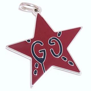 Gucci - 新品⭐️GUCCI グッチ ゴースト GG スター 星型 ネックレス レッド⭐️