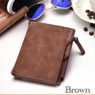 財布 二つ折り財布 ヴィンテージ レザー 札入れ 小銭入れ カード入れ ブラウン(折り財布)