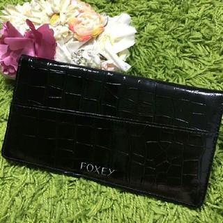 FOXEY - 新品フォクシー レディパスポートケース クロコ調黒
