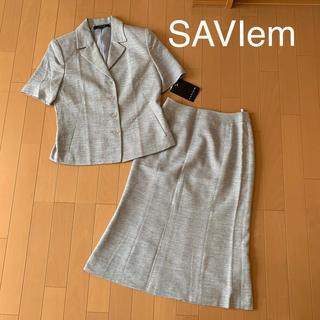 新品タグ付き SAVIem レディーススーツセットアップ スカートスーツ