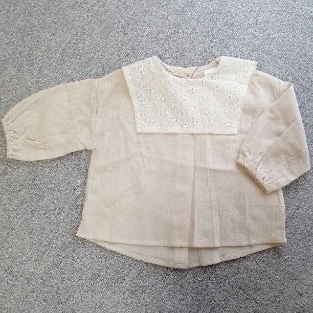 futafuta(フタフタ)のテータテート レース襟ブラウス 90. キッズ/ベビー/マタニティのキッズ服女の子用(90cm~)(ブラウス)の商品写真