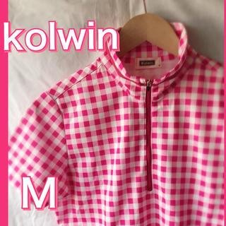 kolwin ポロシャツ ゴルフ ハイネック ピンク(ポロシャツ)