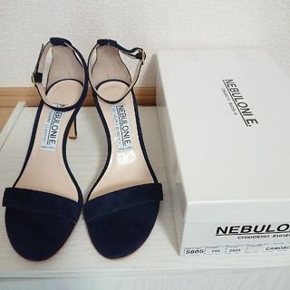 DEUXIEME CLASSE - NEBULONIE ネブローニ アンクルストラップサンダル 紺